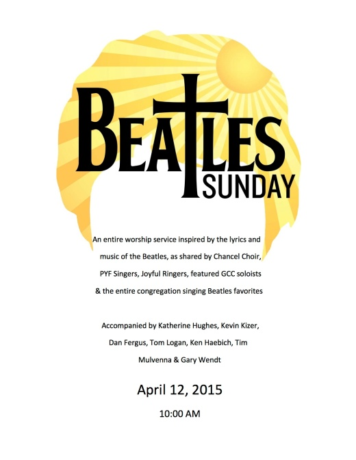 Beatles Sunday flyer